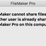 FileMaker Pro へのネットワーク共有