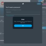 Twitter でユーザー名の変更ができない/新規登録ができない
